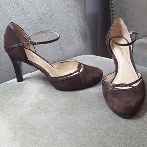 Ann Taylor Leather Suede heels